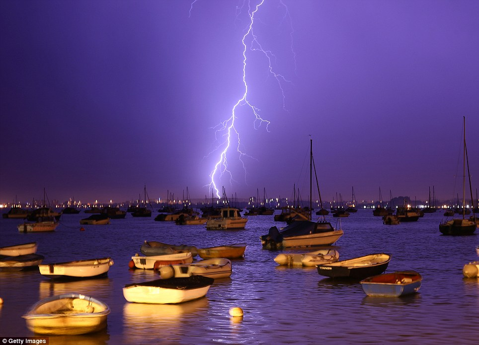 Thunderstorms Poole Harbour